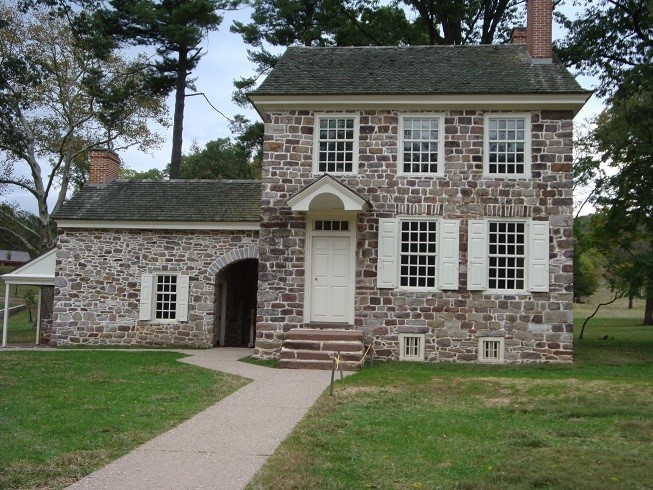 Washington and 25 men spent a winter in this home at Valley Forge