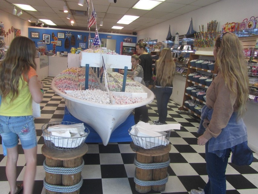 Another week starts out right with a visit to the taffy store on the Warf with our friends.