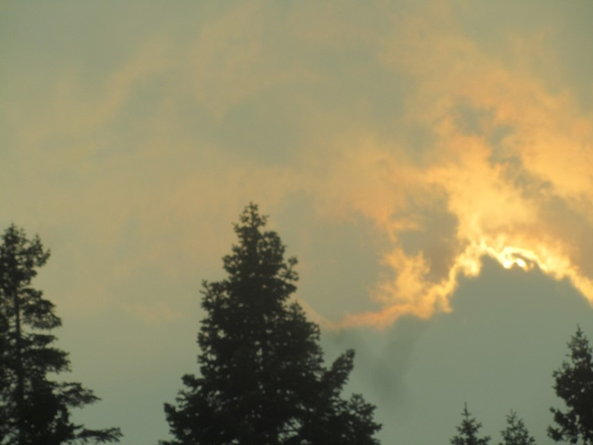 Cool Sky, but the fire is getting ominous