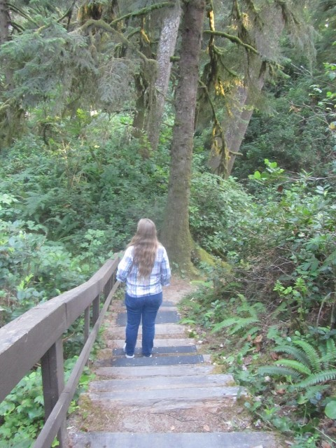 On Arrival, Athena says lets walk to the lodge. It turns out it is only 4 miles down the stairs.