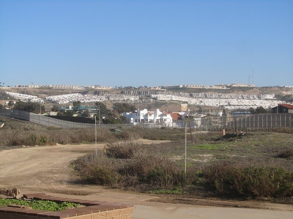 Decaying  U.S park and thriving Tijuana on the other side.