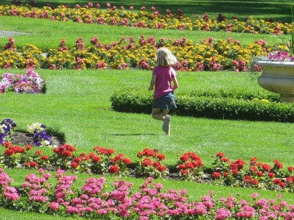 is wonderful to be a kid. Kids get to run through the garden, adults have to walk. It is no wonder adults have to go on diets.