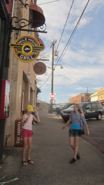 "Some fool told us that Denver was the Mile High City, and some crazy Fools bought that. Here we are with proof that Jerome Arizona is the mile high city, and we are standing out side the ""Mile High Grill"" - we did not try food, one never know if it taste good at such an altitude."