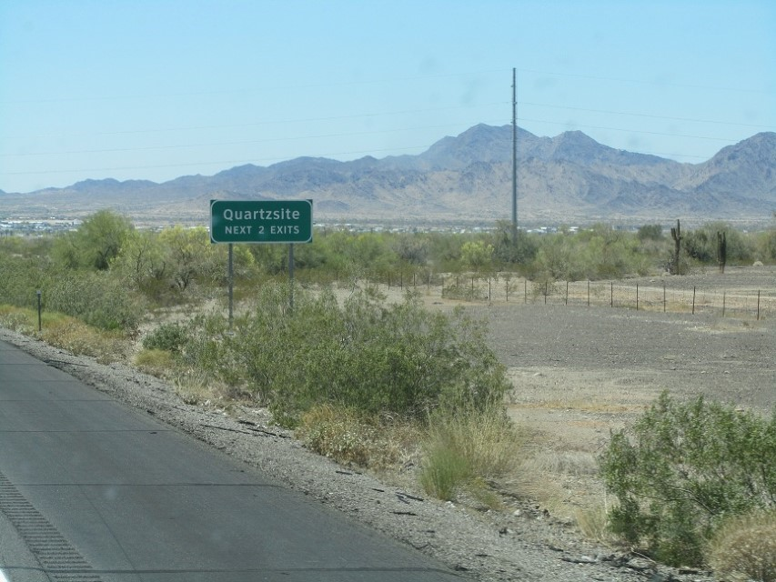 We reach Quartsite, I am tired and want to put in for the night. Athena and the girls vote we push on to YUMA.