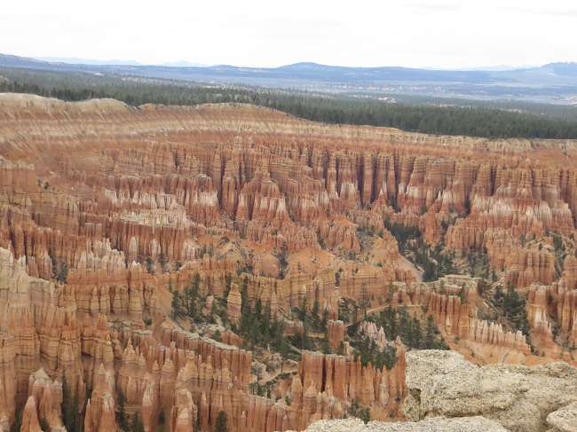 Well we made it to Bryce Canyon! They call all those spires Hoodoos. They remind me of porcelain chess pieces. Voodoo magic is at work in this park, each one of these spires represents a chess piece somewhere in the world, and each time a spire breaks, so does it corresponding chess piece. Please tread lightly when visiting this park.