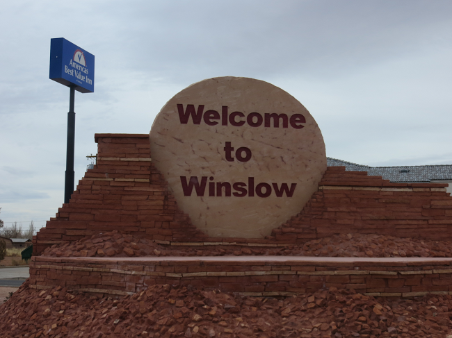 We take a Route 66 diversion into Winslow, AZ