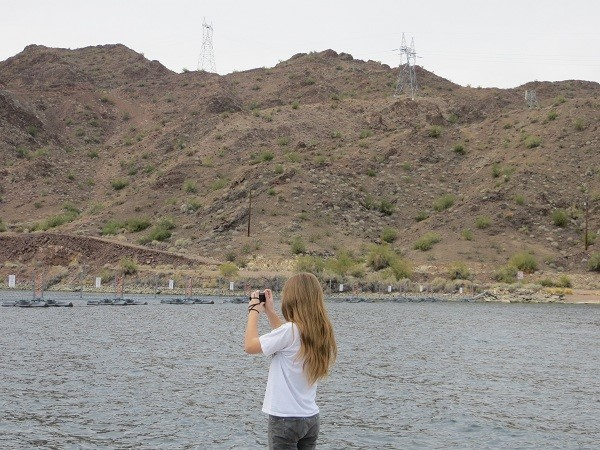 Tourist taking photos of the Dam