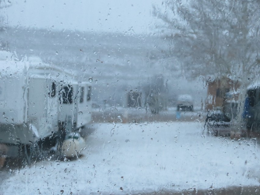 Snow in camp
