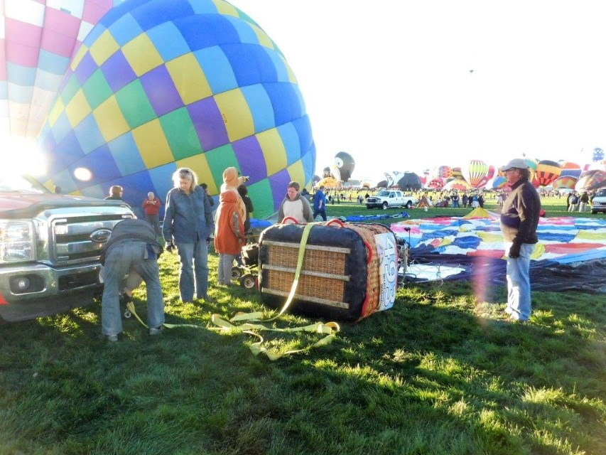 Balloon is laid out