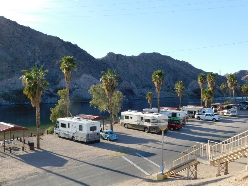 RV's along river