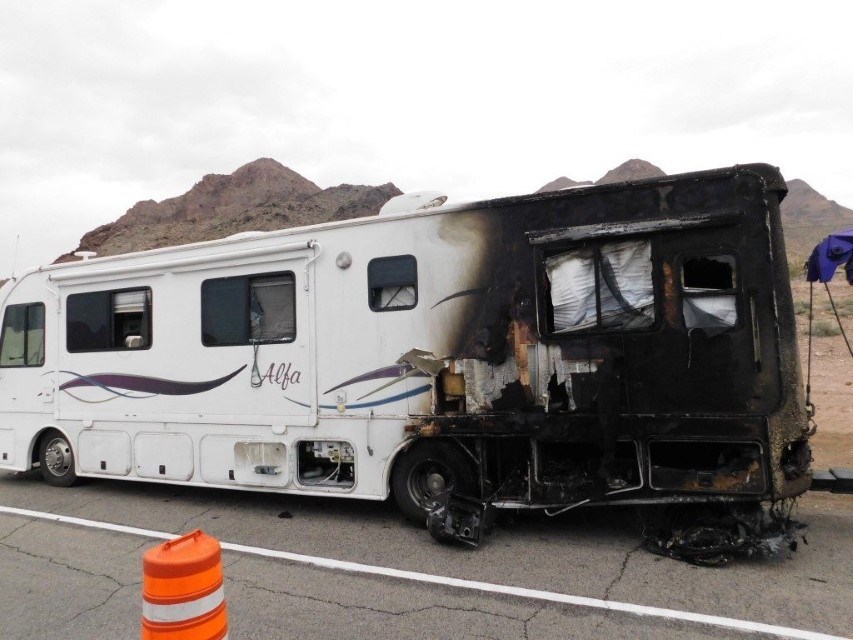 RV Fire Boulder City, Nevada